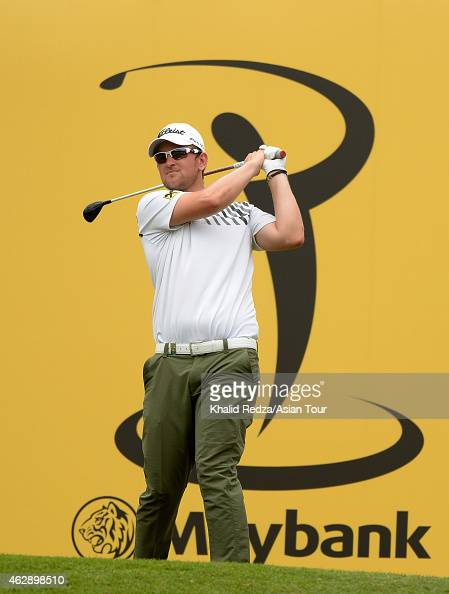 Bernd Wiesberger of Austria in action during round three of the Maybank Malaysian Open at Kuala Lumpur Golf Country Club on February 7 2015 in Kuala...