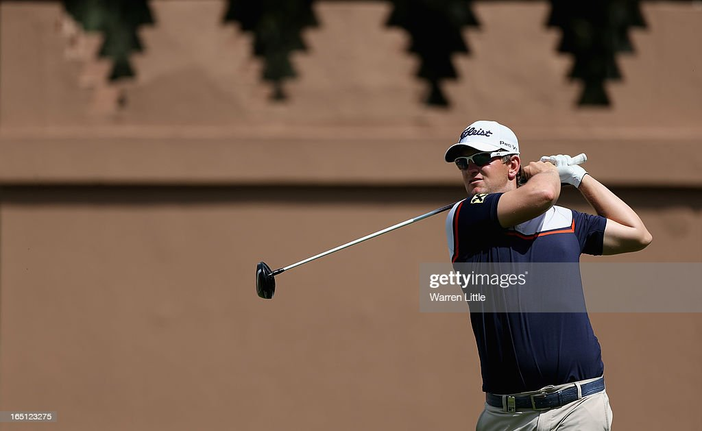 Bernd Wiesberger of Austria in action during the final round of the Trophee du Hassan II Golf at Golf du Palais Royal on March 31, 2013 in Agadir, Morocco.