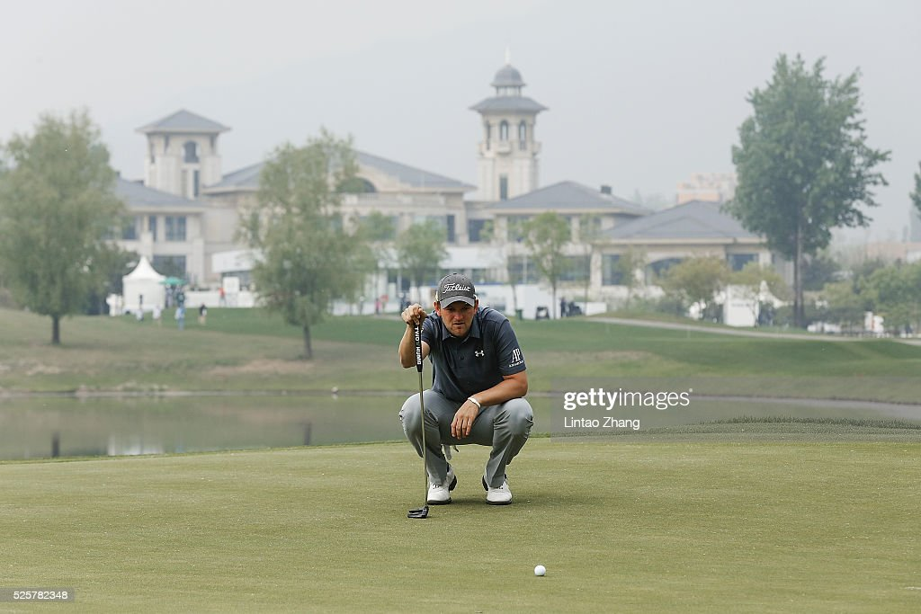 Bernd Wiesberger of Austria looks on during the second round of the Volvo China open at Topwin Golf and Country Club on April 28, 2016 in Beijing, China.