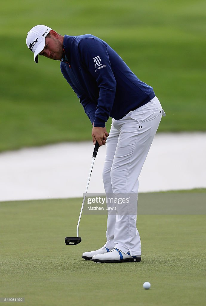 <a gi-track='captionPersonalityLinkClicked' href=/galleries/search?phrase=Bernd+Wiesberger&family=editorial&specificpeople=4025132 ng-click='$event.stopPropagation()'>Bernd Wiesberger</a> of Austria makes a putt during day two of the 100th Open de France at Le Golf National on July 1, 2016 in Paris, France.