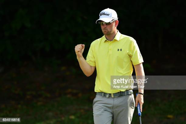 Bernd Wiesberger of Austria pictured during round two of the Maybank Championship Malaysia at Saujana Golf and Country Club on February 10 2017 in...