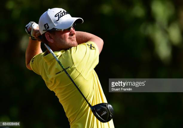 Bernd Wiesberger of Austria plays a shot during Day Two of the Maybank Championship Malaysia at Saujana Golf Club on February 10 2017 in Kuala Lumpur...