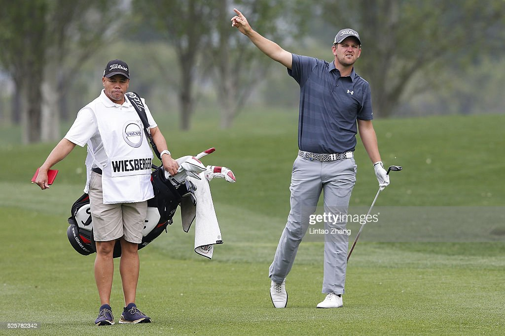 <a gi-track='captionPersonalityLinkClicked' href=/galleries/search?phrase=Bernd+Wiesberger&family=editorial&specificpeople=4025132 ng-click='$event.stopPropagation()'>Bernd Wiesberger</a> of Austria plays a shot during the second round of the Volvo China open at Topwin Golf and Country Club on April 28, 2016 in Beijing, China.