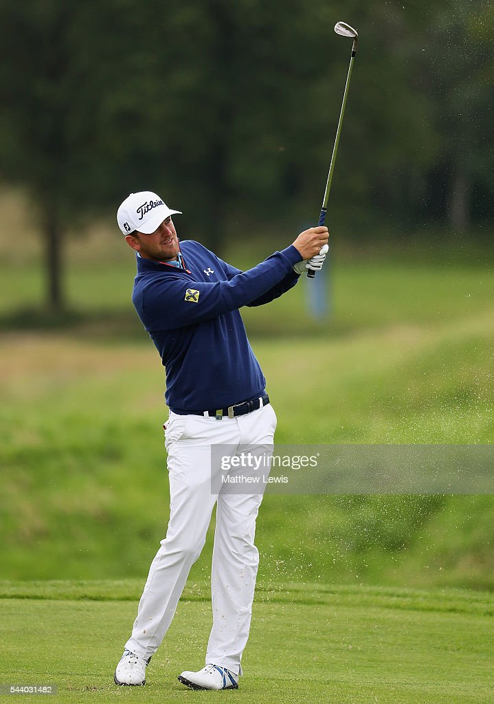 <a gi-track='captionPersonalityLinkClicked' href=/galleries/search?phrase=Bernd+Wiesberger&family=editorial&specificpeople=4025132 ng-click='$event.stopPropagation()'>Bernd Wiesberger</a> of Austria plays a shot from the fairway during day two of the 100th Open de France at Le Golf National on July 1, 2016 in Paris, France.