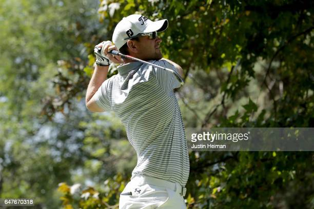 Bernd Wiesberger of Austria plays his tee shot on the seventh hole during the second round of the World Golf Championships Mexico Championship at...