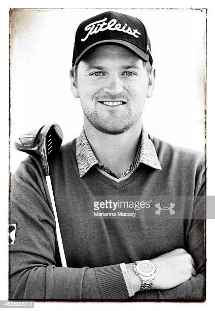 Bernd Wiesberger of Austria poses for a portrait on the range ahead of the Northern Trust Open on February 18 2015 at The Riviera Country Club in...