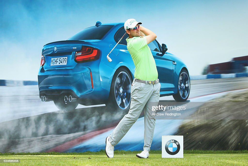 Bernd Weisberger of Austria tees off on the 10th hole during day two of the BMW PGA Championship at Wentworth on May 27, 2016 in Virginia Water, England.