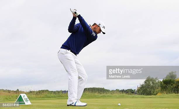 Bernd Wiesberger of Austria tees off on the 15th hole during day two of the 100th Open de France at Le Golf National on July 1 2016 in Paris France