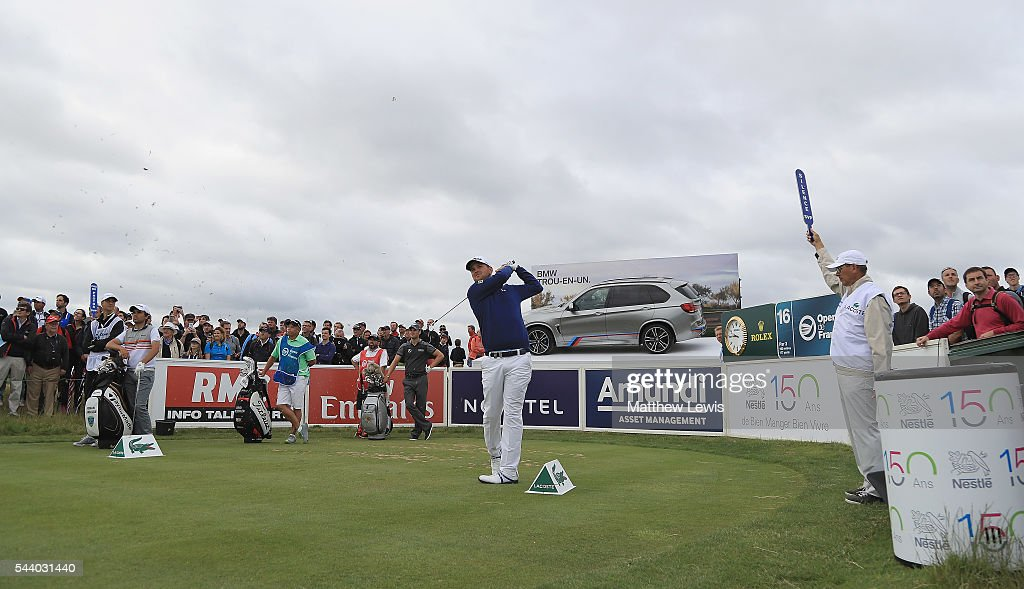 <a gi-track='captionPersonalityLinkClicked' href=/galleries/search?phrase=Bernd+Wiesberger&family=editorial&specificpeople=4025132 ng-click='$event.stopPropagation()'>Bernd Wiesberger</a> of Austria tees off on the 16th hole during day two of the 100th Open de France at Le Golf National on July 1, 2016 in Paris, France.
