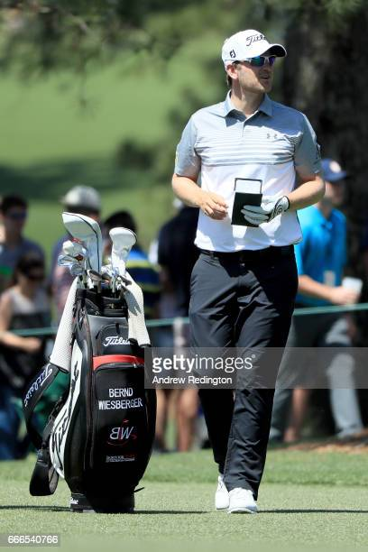 Bernd Wiesberger of Austria waits on the 17th hole during the final round of the 2017 Masters Tournament at Augusta National Golf Club on April 9...