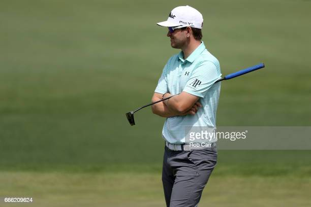 Bernd Wiesberger of Austria waits on the second green during the third round of the 2017 Masters Tournament at Augusta National Golf Club on April 8...