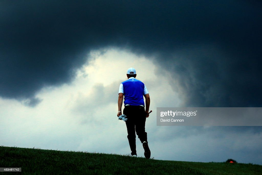 <a gi-track='captionPersonalityLinkClicked' href=/galleries/search?phrase=Bernd+Wiesberger&family=editorial&specificpeople=4025132 ng-click='$event.stopPropagation()'>Bernd Wiesberger</a> of Austria walks up the 18th hole during the final round of the 96th PGA Championship at Valhalla Golf Club on August 10, 2014 in Louisville, Kentucky.