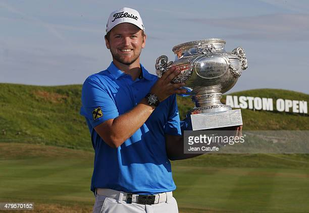 Bernd Wiesberger of Austria wins the Alstom Open de France 2015 at the Golf National on July 5 2015 in SaintQuentinenYvelines France