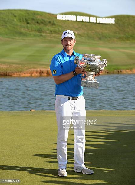 Bernd Wiesberger of Austria with the trophy after winning the Alstom Open de France Day Four at Le Golf National on July 5 2015 in Paris France