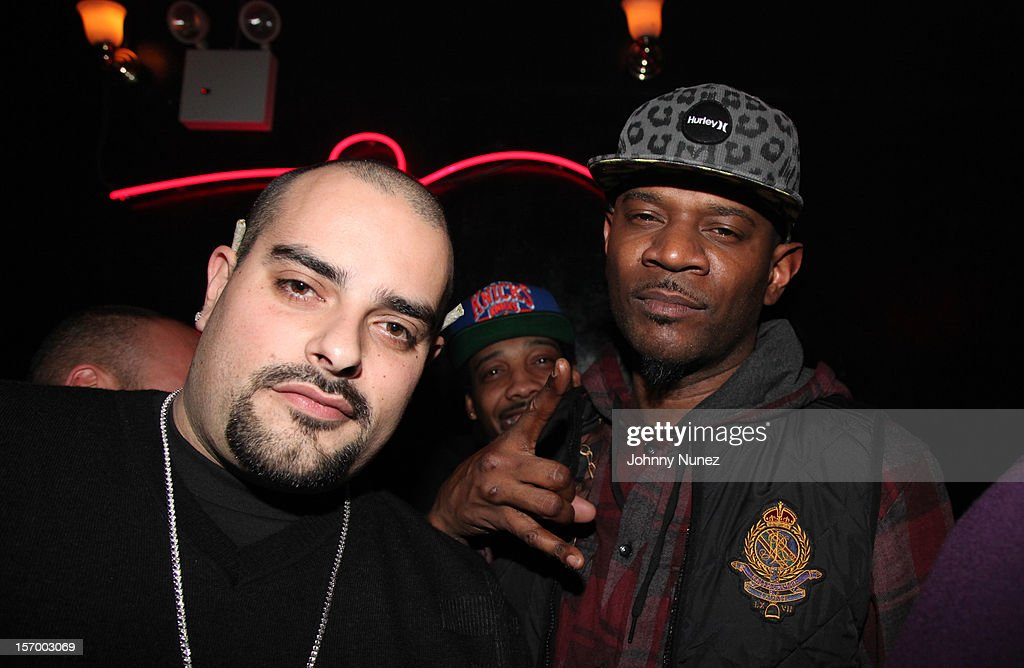 Berner and Tuki Carter attend Wiz Khalifa's 'O.N.I.F.C.' Listening Party at The West Way on November 26, 2012 in New York City.