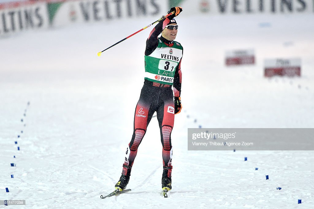 <a gi-track='captionPersonalityLinkClicked' href=/galleries/search?phrase=Bernhard+Gruber&family=editorial&specificpeople=824521 ng-click='$event.stopPropagation()'>Bernhard Gruber</a> of Austria takes 2nd place during the FIS Nordic World Cup Men's Nordic Combined Team Sprint on February 20, 2016 in Lahti, Finland.