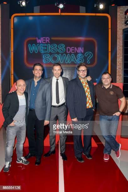 Bernhard Hoecker Bastian Pastewka Kai Pflaume Paul Panzer and Elton during the Photo Cal to the TV Show 'Wer weiss denn sowas XXL' on December 4 2017...
