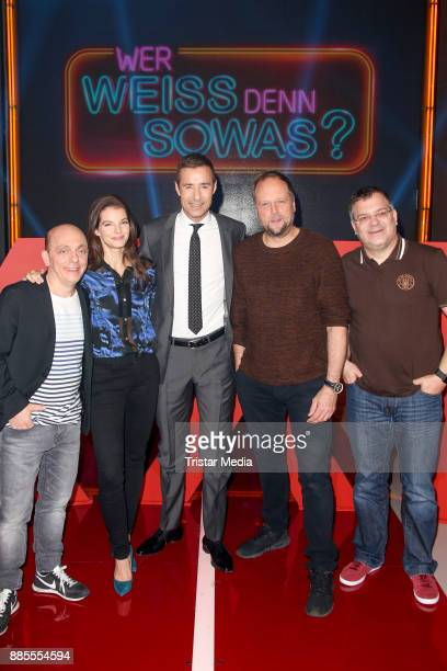 Bernhard Hoecker Yvonne Catterfeld Kai Pflaume Smudo and Elton during the Photo Cal to the TV Show 'Wer weiss denn sowas XXL' on December 4 2017 in...