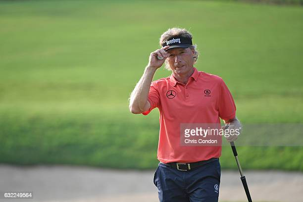 KA'UPULEHUKONA HI JANUARY 20 Bernhard Langer of Germany birdieas the 18th hole during the second round of the PGA TOUR Champions Mitsubishi Electric...