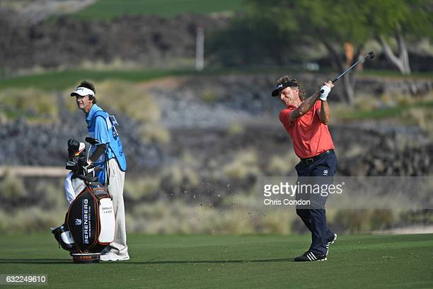 KA'UPULEHUKONA HI JANUARY 20 Bernhard Langer of Germany hits his second shot on the 11th hole during the second round of the PGA TOUR Champions...
