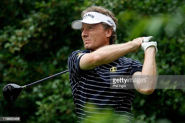 Bernhard Langer of Germany in action during the first round of the Berenberg Bank Masters played at Cologne Golf und Land Club on June 17 2011 in...