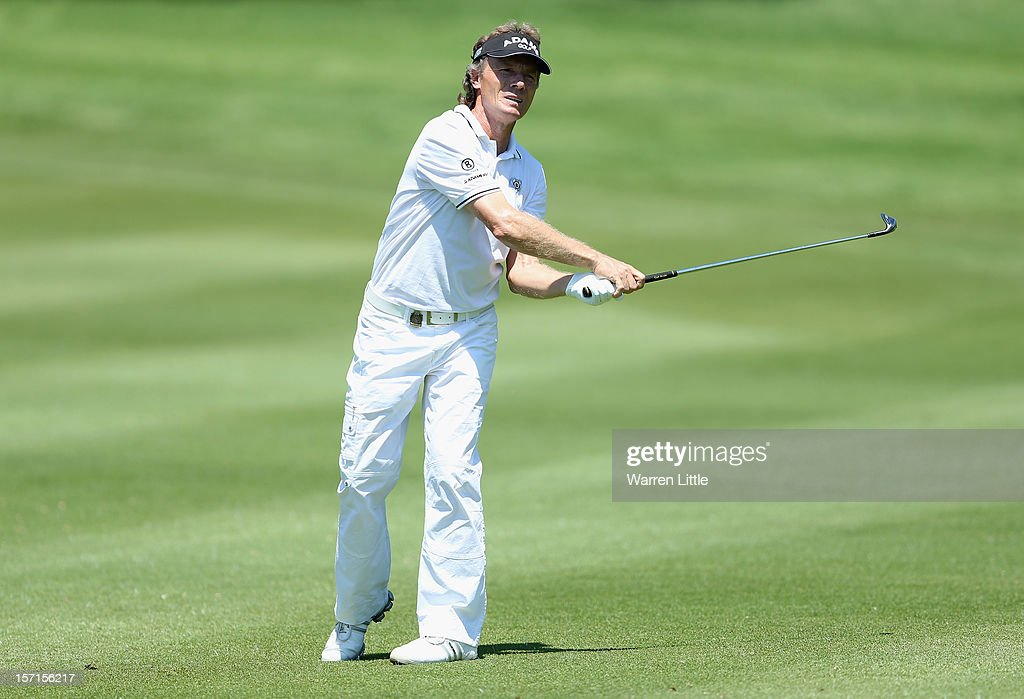 Bernhard Langer of Germany in action during the first round of the Nedbank Champions Challenge at the Gary Player Country Club on November 29, 2012 in Sun City, South Africa.