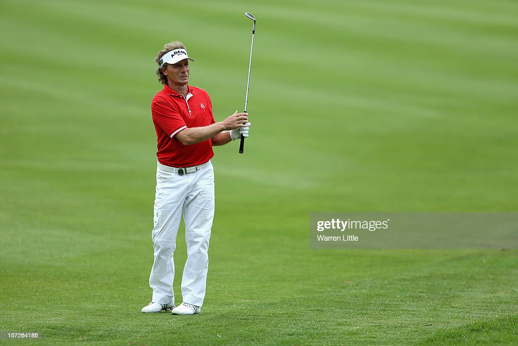 <a gi-track='captionPersonalityLinkClicked' href=/galleries/search?phrase=Bernhard+Langer&family=editorial&specificpeople=167071 ng-click='$event.stopPropagation()'>Bernhard Langer</a> of Germany in action during the third round of the Nedbank Champions Challenge at the Gary Player Country Club on December 1, 2012 in Sun City, South Africa.