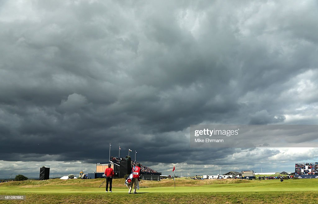 Bernhard Langer of Germany on the 17th green during the second round of the 144th Open Championship at The Old Course on July 17 2015 in St Andrews...