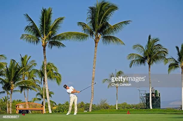 KA'UPULEHUKONA HI JANUARY 19 Bernhard Langer of Germany tees off on the 14th hole during the final round of the Mitsubishi Electric Championship at...