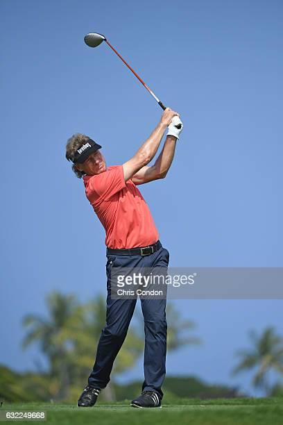 KA'UPULEHUKONA HI JANUARY 20 Bernhard Langer of Germany tees off on the second hole during the second round of the PGA TOUR Champions Mitsubishi...