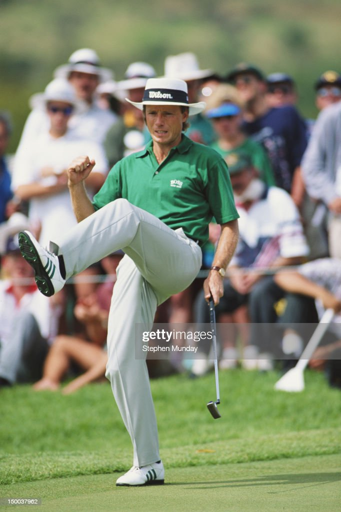 Bernhard Langer of Germany with his high step during the Million Dollar Challenge on 3rd December 1995 at the Gary Player Country Club in Sun City...