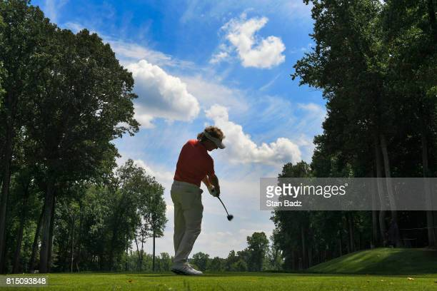 Bernhard Langer plays a tee shot on the seventh hole during the third round of the PGA TOUR Champions Constellation SENIOR PLAYERS Championship at...