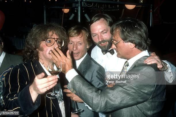 Bernhard Paul Claus Theo Gärtner HansPeter Wodarz Hardy Rodenstock Party zum 40 Geburtstag von 'Roncalli'Chef Bernhard Paul am in Wiesbaden...