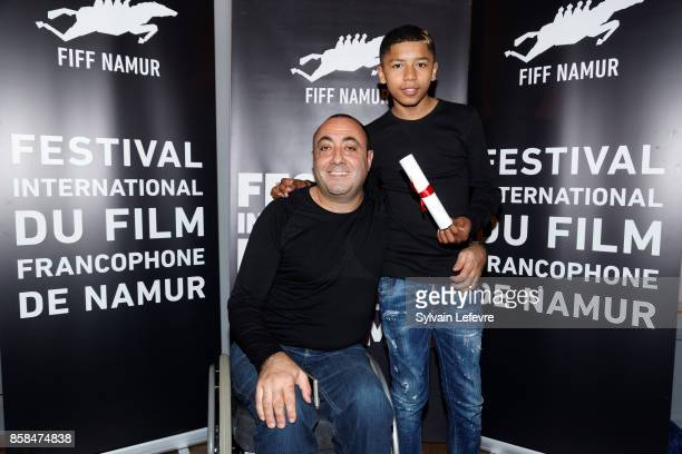 Berni Goldblat and Makan Nathan Diarra attend the Award Ceremony of 32nd Namur International FrenchLanguage Film Festival on October 6 2017 in Namur...