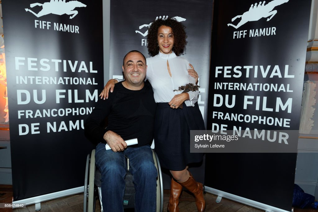Berni Goldblat and Sofia Djama attend the Award Ceremony of 32nd Namur International French-Language Film Festival (FIFF) on October 6, 2017 in Namur, Belgium.