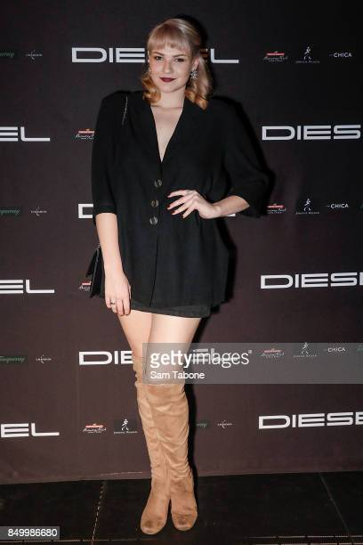 Berni Harrison fron the voice attends the Diesel Bar Eatery launch on September 20 2017 in Melbourne Australia