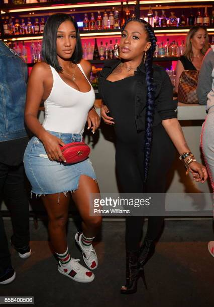 Bernice Burgos and Lil Mo attend Baller Alert's Bowl With a Baller at Basement Bowl on October 5 2017 in Miami Florida