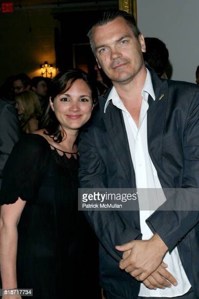 Bernice Donzaoez and Patrick Anderson attend The YOUNG PATRONS CIRCLE of AMERICAN FRIENDS Hosts SOIREE AU LOUVRE at Payne Whitney Mansion on June 3...