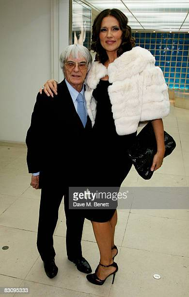 Bernie and Slavica Ecclestone attend the launch party for Form Menswear at Harrods on October 2 2008 in London England