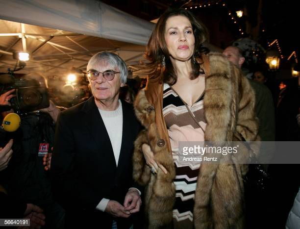 Bernie Ecclestone and his wife Slavica attend the Audi Night party at the Hotel Tenne on January 20 2006 in Kitzbuehel Austria