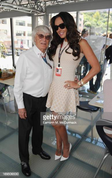 Bernie Ecclestone and Tamara Ecclestone at the Red Bull Energy Station Circuit de Monaco on May 26 2013 in MonteCarlo Monaco