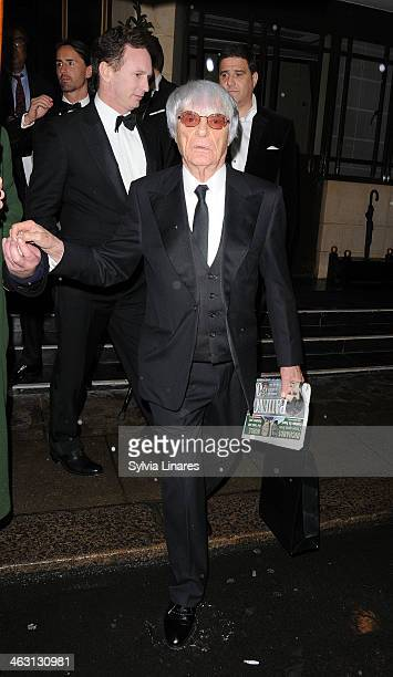 Bernie Ecclestone seen leaving The Dorchester Hotel on January 16 2014 in London England