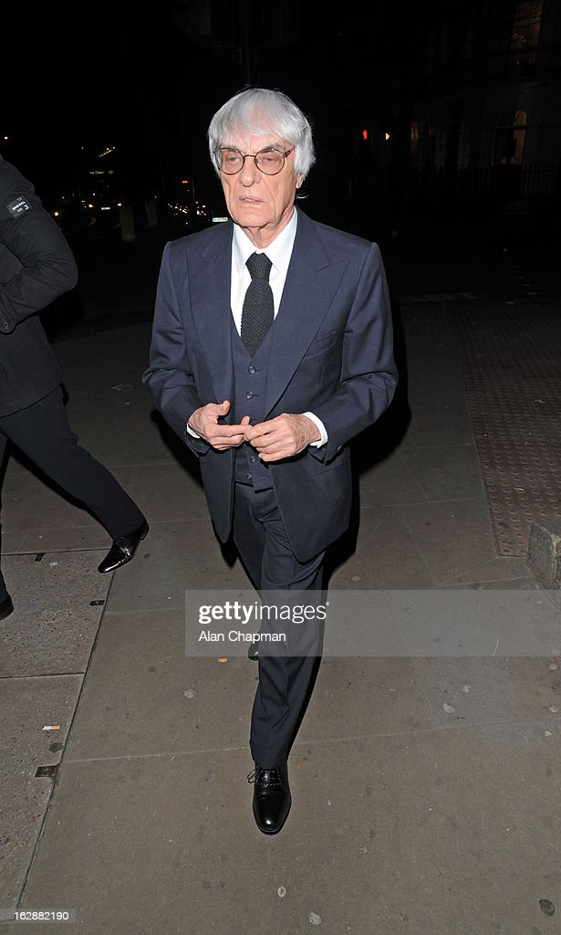 <a gi-track='captionPersonalityLinkClicked' href=/galleries/search?phrase=Bernie+Ecclestone&family=editorial&specificpeople=211579 ng-click='$event.stopPropagation()'>Bernie Ecclestone</a> sighting at the Cord Club charity dinner and ball on February 28, 2013 in London, England.