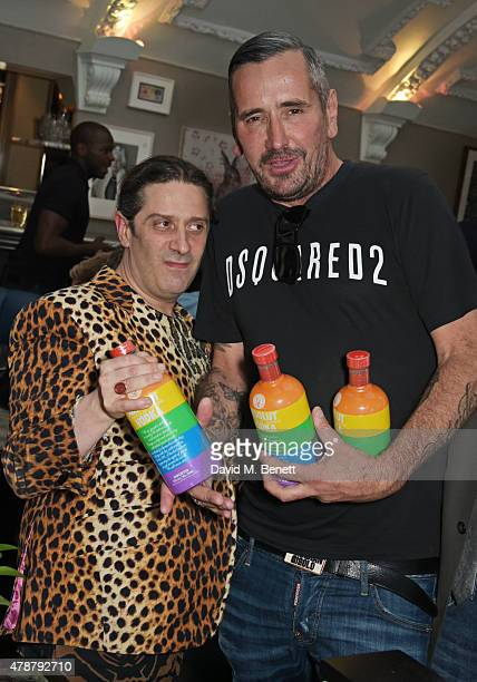 Bernie Katz and Fat Tony attend the Absolut Colours launch event at The Groucho Club on June 27 2015 in London England
