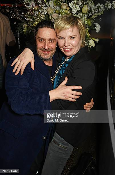 Bernie Katz and Flora Starkey attend the launch of 100 Wardour St on January 28 2016 in London England