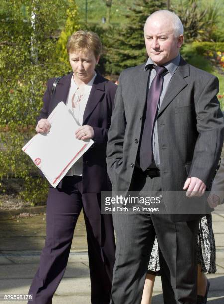 Bernie McQuillan sister of murdered solicitor Rosemary Nelson with an unnamed family member arrive The public inquiry into the loyalist murder of...