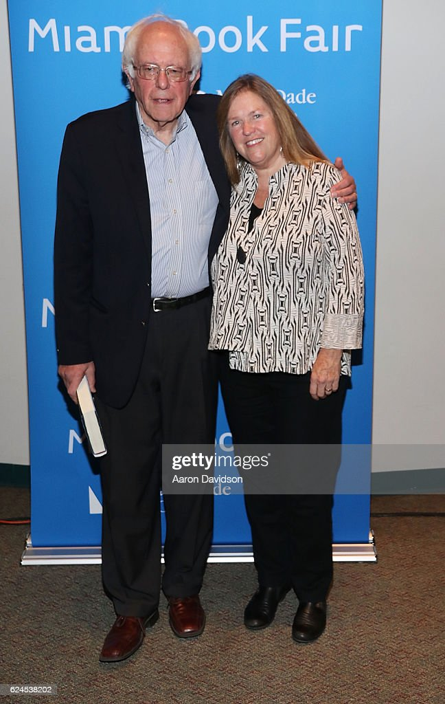 Bernie Sanders and Jane O'Meara Sanders attends on November 19, 2016 in Miami, Florida.