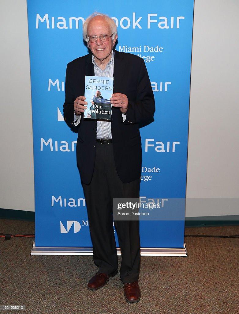 Bernie Sanders attends Miami Book Fair on November 19, 2016 in Miami, Florida.