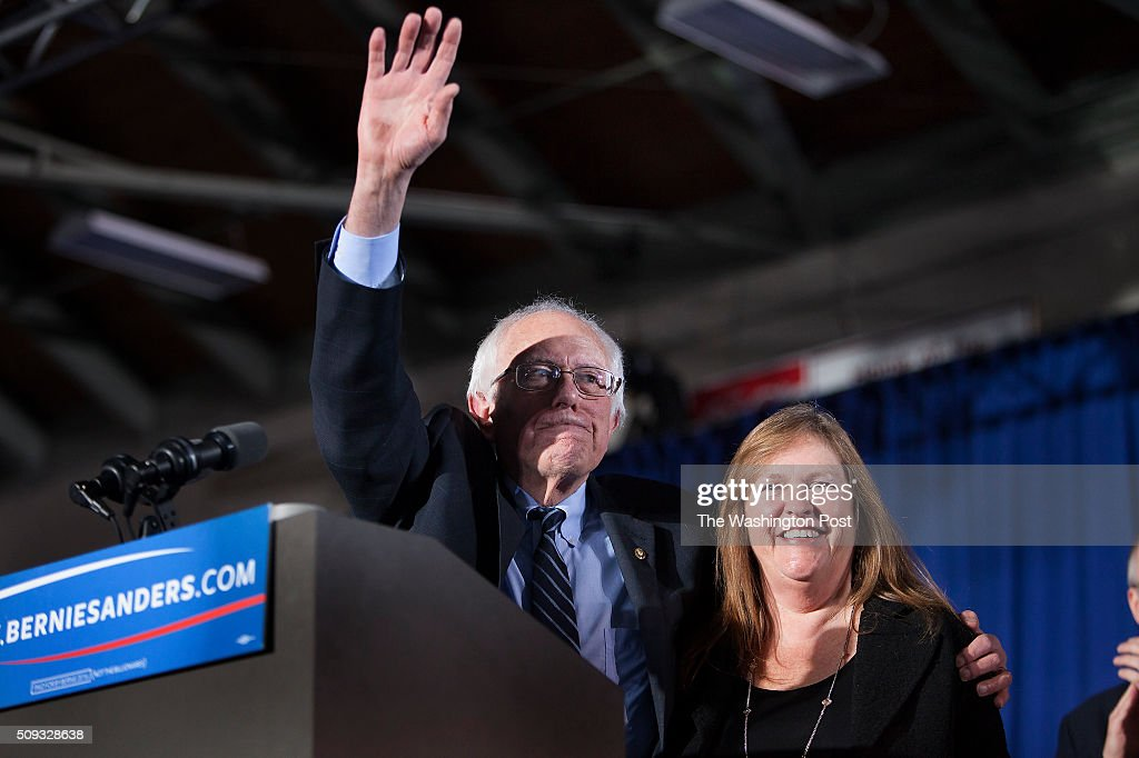 <a gi-track='captionPersonalityLinkClicked' href=/galleries/search?phrase=Bernie+Sanders&family=editorial&specificpeople=2908340 ng-click='$event.stopPropagation()'>Bernie Sanders</a> greets his supporters at Concord HS after winning NH.