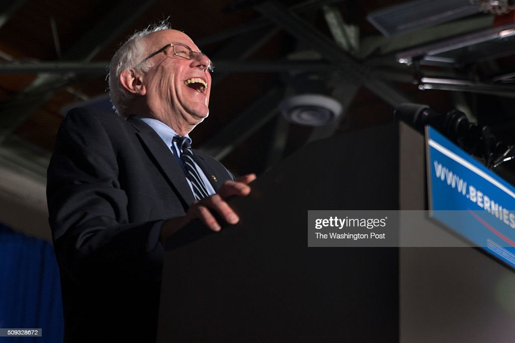 <a gi-track='captionPersonalityLinkClicked' href=/galleries/search?phrase=Bernie+Sanders&family=editorial&specificpeople=2908340 ng-click='$event.stopPropagation()'>Bernie Sanders</a> is thrilled as he greets his supporters at Concord HS after winning NH.